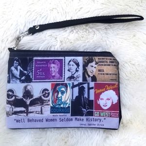 OldBagzz strong women wristlet pouch zip top